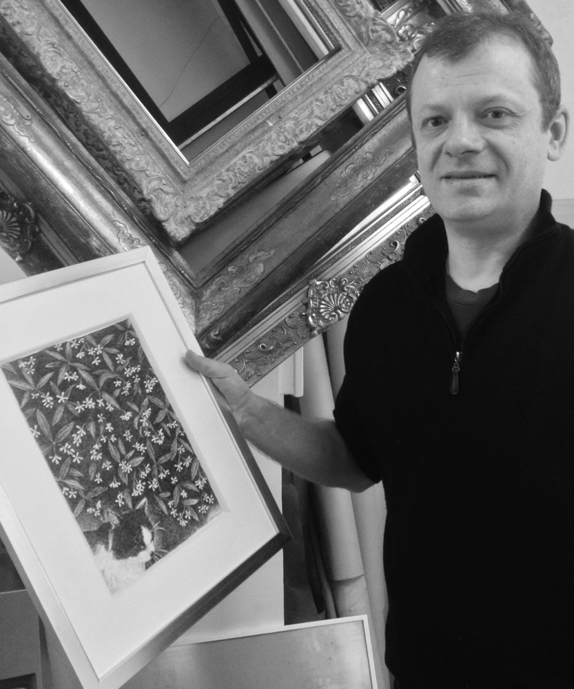 Henri Blanc dessins à la plume - Emmanuel, maître encadreur ink drawing