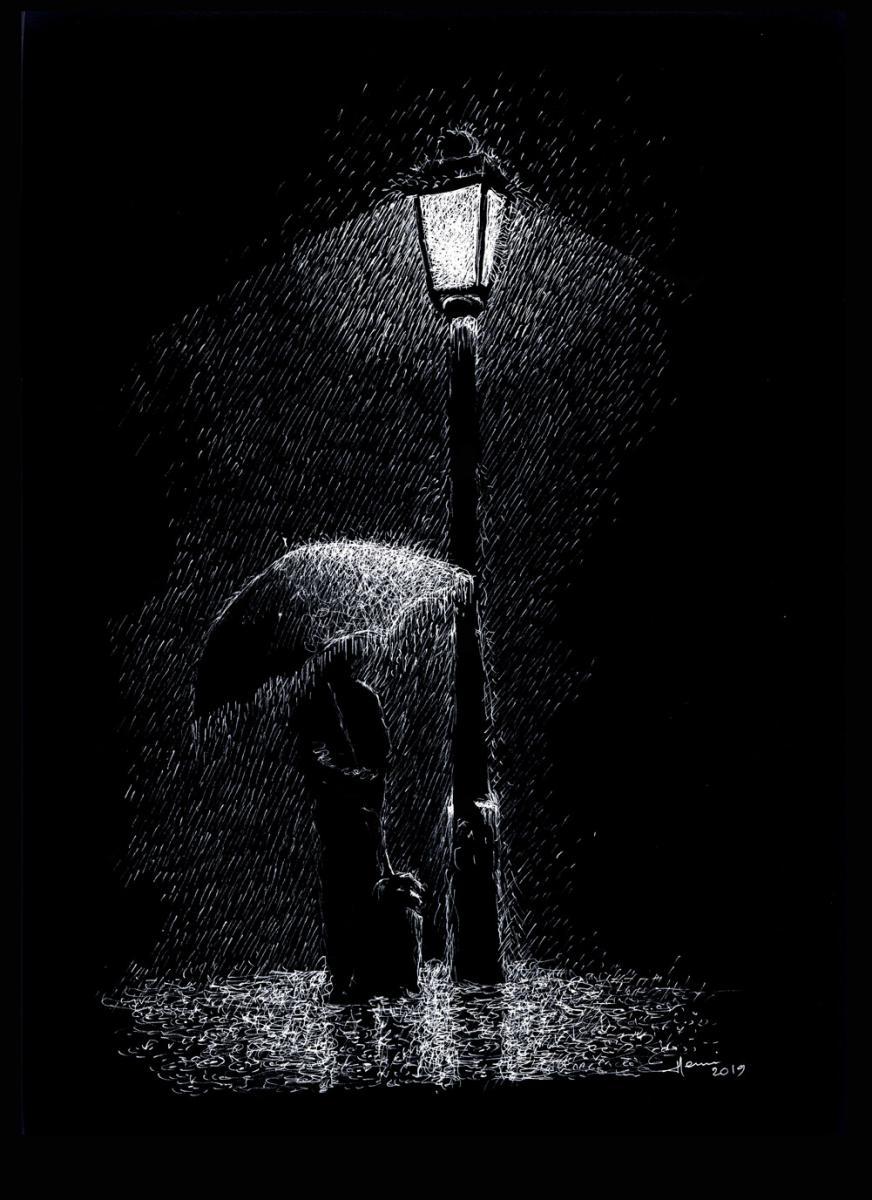 Henri Blanc, dessin, plume, Drawing, inkdrawing, dessin a la plume, Paris, Montmartre