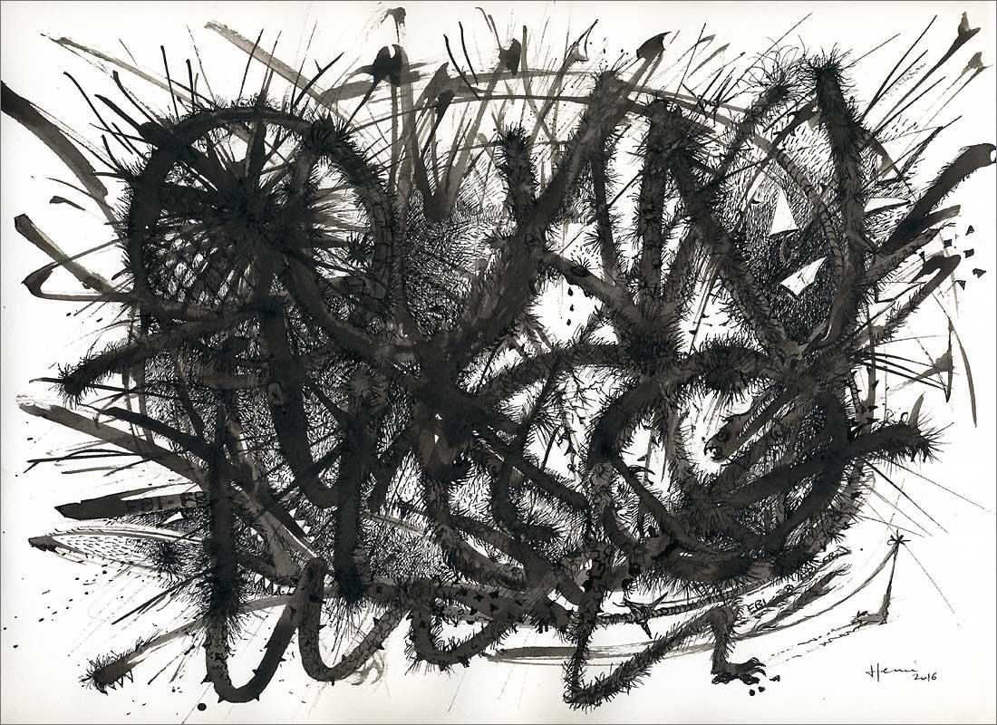 Henri Blanc dessins à la plume - Quantico ink drawing