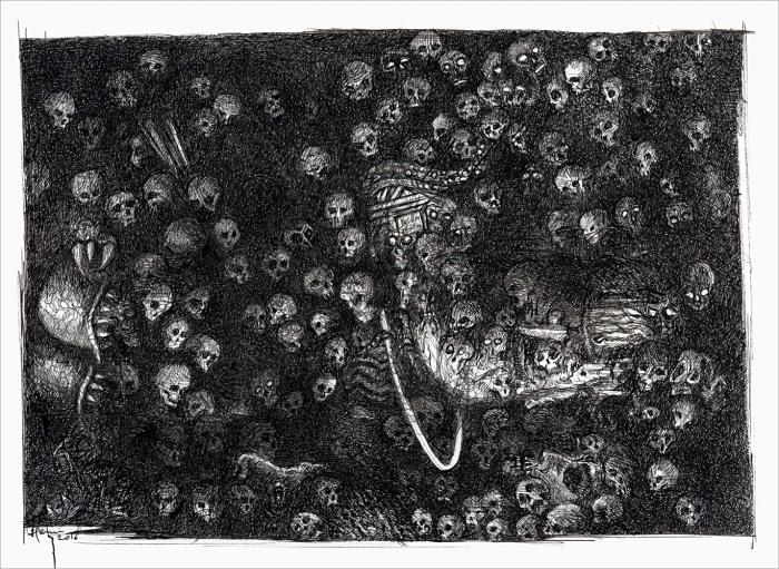 Henri Blanc dessins à la plume - impossible reconciliation